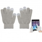 Capacity Screen Touch Gloves for Iphone Ipad Ipod - Gray (Free Size)
