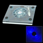 Blue Light USB Powered Cooling Pad for 7~10&quot; Laptops (Translucent Yellow)