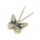 Fashionable Vintage Butterfly Pattern Sweater Chain - Antique Copper