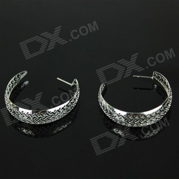 925 Silver Hollow Circle Earrings