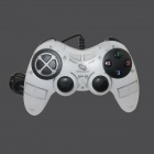 BZDC-890 USB 2.0 Wired Vibration Game Controller - White