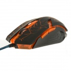 Rhorse 800/1600/2400/3200 dpi Colorful Glare USB Engines Gaming Mouse - Green