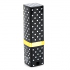 Creative Disguise Lipstick Shaped Refuling Butane Gas Lighter - Black + White