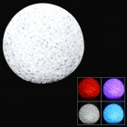 667 Magic Romantic Crystal PVC White & Blue Light Night Lamp Ball - White (3 x AG13)