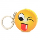 Novel Cute Emoji Pattern Round Refueling Butane Gas Lighter - Light Yellow + Red
