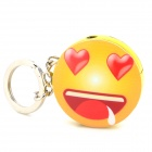 Novel Cute Emoji Pattern Round Refueling Butane Gas Lighter - Beige + Red