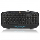 LEIJIE K18 Three-color Backlight Professional 117-Key Gaming Wired Keyboard- Black