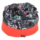 SAHOO 	46866 Fleeces Headscarf - Black + Red