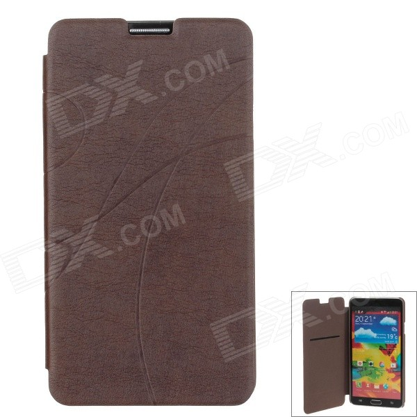 Ultra-thin + Fashion Protective PU Leather Flip for Samsung Galaxy Note 3 - Brown