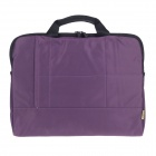 "Tee 14"" Shock-Proof Water Resistant One-shoulder Sleeves Bag w/ Handle for Notebook - Purple"