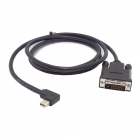 CY DP-073-RI Right Angled 90° Mini DisplayPort DP Male Source to DVI Male Sink Monitor Cable (150cm)