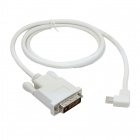 CY DP-083-RI Right Angled 90° Mini DisplayPort DP Male Source to DVI Male Sink Monitor Cable (150cm)