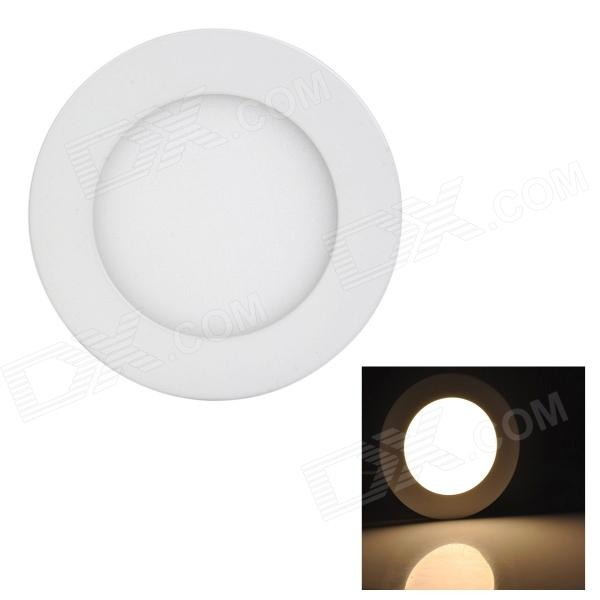 купить LSON G-006 Round 6W 300lm 3000K 30-2835 SMD LED Warm White Panel Lamp - White (AC 85~265V) недорого