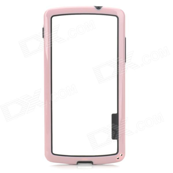 S-What Protective PC + TPU Bumper Case for LG Nexus 5 - Pink + Black xcadey bicycle power meter crank power meter bicycle gps computer garmin edge bryton igpsport support ant bluetooth