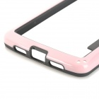 S-What Protective PC + TPU Bumper Case for LG Nexus 5 - Pink + Black