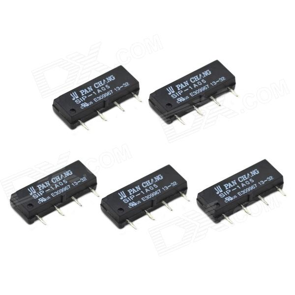 DC5V 1A 4 pines Seco Reed Pipe Relay - Negro (5 PCS)