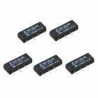 DC5V 1A 4-pin Dry Reed Pipe Relay - Black (5 PCS)