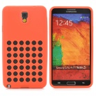 Hollow-Out Round Holes Style Protective Silicone Back Case for Samsung Galaxy Note 3 N9000 - Red