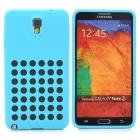 Hollow-Out Round Holes Style Protective Silicone Back Case for Samsung Galaxy Note 3 N9000 - Blue