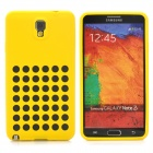Hollow-Out Round Holes Style Protective Silicone Back Case for Samsung Galaxy Note 3 N9000 - Yellow