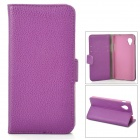 Lychee Grain Style Protective PU Leather Case for Google Nexus 5 - Purple