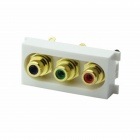 K86-915 RGB Audio und Video AV RCA Coaxial-Modul für 86-Panel - Gold