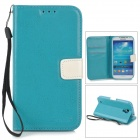 Stylish Protective PU Leather Case for Samsung Galaxy S4 i9500 - Blue