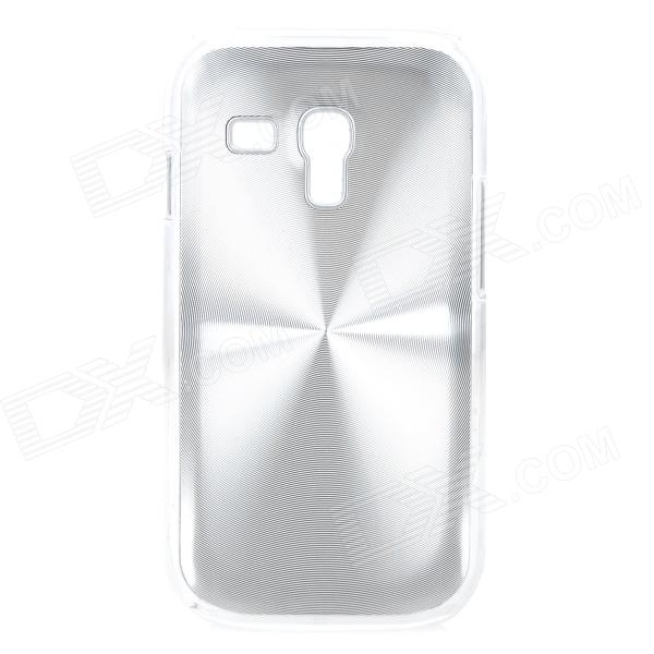 Stylish CD Grain Style Protective Aluminum Alloy Back Case for Samsung Galaxy S3 Mini i8190 - Silver