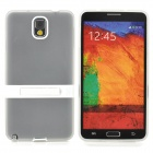 Protective Silicone Back Case w/ Stand for Samsung Galaxy Note 3 - White