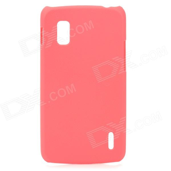 Lychee Grain Style Protective ABS Back Case for LG Nexus 4 E960 - Deep Pink