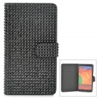 Shining Protective Rhinestone PU Leather Case for Samsung Galaxy Note 3 N9000 - Black