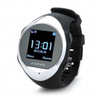 "ZGPAX PG88 GSM Watch Phone w/ 1.44"" LCD Screen, Quad-Band, GPS Positioning and SOS - Black+Silver"