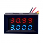 "0.28"" 4-digit DC 0~33.00V 0~999.9mA~3A Voltage Current Meter - Red + Blue"