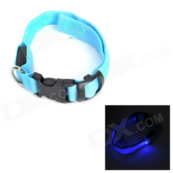 LED Flashing Night Safety Collar for Pet Dog / Cat - Blue (Size M) doglemi dm40024 m led nylon collar for pet dog green size m