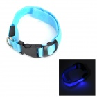LED Flashing Night Safety Collar for Pet Dog / Cat - Blue (Size M)