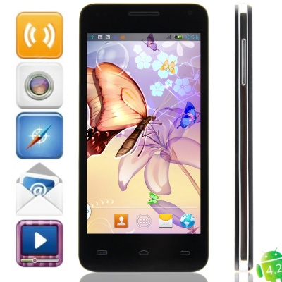C2(Q45/A45) MTK6572 Dual-core Android 4.2.2 WCDMA Bar Phone w/ 4.5