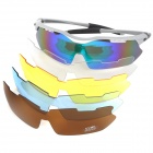 CARSHIRO E9157-C06 Sports de plein air UV400 Protection polarisée lunettes Set - Silver