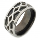 SHIYING jz024 Double-layer Men' s 316L Stainless Steel Finger Ring - Black + Silver