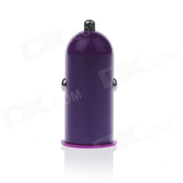 Mini 2.1A USB Car Cigarette Lighting Plug Power Charger - Purple + White (DC 12~24V) v9 350mah mini health electronic cigarette detachable atomizer e cigarette kit with usb ac charger