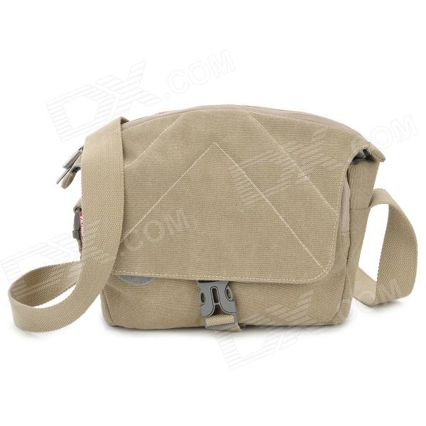 MB-001S Waterproof Anti-Shock Nylon Bag for Canon / Nikon / Sony / Pentax Camera - Khaki (Size S)Bags and Cases<br>Form  ColorKhakiBrandN/AModelMB-001SMaterialNylonQuantity1 DX.PCM.Model.AttributeModel.UnitCompatible BrandCanon, Nikon, Sony, PentaxCompatible ModelsCanon EOS 700D 1000D1100 D600D550D 650D 450D 500D, Nikon 3100 D3200 D90 D7000 D5100. Suitable for micro sheet: NEX-5R NEX-F3 NEX-5N NEX-5C NEX-C3Water ResistantFor daily wear. Suitable for everyday use. Wearable while water is being splashed but not under any pressure.Anti-ShockYesSizeSInner Dimension23 x 9 x 16cmDimension33 x 13 x 22 DX.PCM.Model.AttributeModel.UnitOther FeaturesStrap length: 160cm (adjustable)Packing List1 x Bag<br>