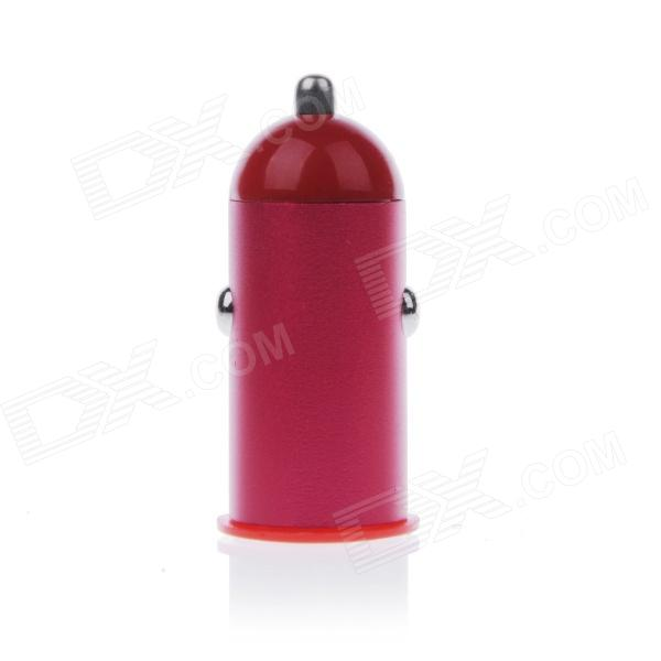 Mini 2.1A USB Car Cigarette Lighting Plug Power Charger - Red + White (DC 12~24V)