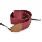 SW610 Universal PU Leather Camera Strap - Red + Brown (150cm)