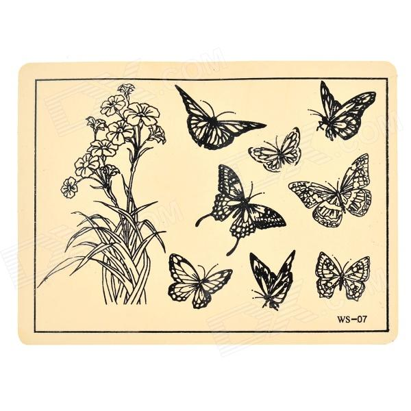 JUQI Butterfly Style Tattoo Practice Skin iso surgical suture practice module new skin suture skill practice model