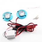 DC12V 50lm Car Motorcycle  Decorative Blue Light Emergency Strobe Flash Light (65cm-Cable)