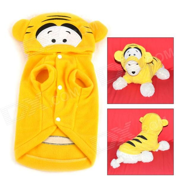 JUQI Tiger Style Cotton Clothes for Pet Dog - Yellow + Black (M) pig style polar fleece dog pet clothes pink 35 x 23 x 23cm