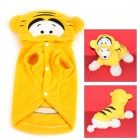 JUQI Tiger Style Cotton Clothes for Pet Dog - Yellow + Black (M)