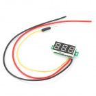 "DD63 DIY 0.28"" 3-Digit Green Light LED Digital Voltmeter - Black"