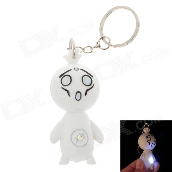 Facial Expression LED Keychain - White (3 x AG10)
