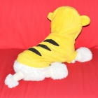 JUQI Tiger Style Cotton Clothes for Pet Dog - Yellow + Black (L)