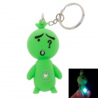 Facial Expression LED Keychain - Grass Green (3 x AG10)